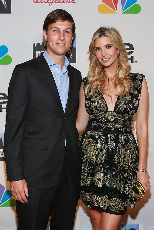 "Description of . Jared Kushner (L) and Ivanka Trump attend ""All Star Celebrity Apprentice\"" Finale at Cipriani 42nd Street on May 19, 2013 in New York City.  (Photo by Robin Marchant/Getty Images)"