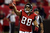 Tight end Tony Gonzalez #88 of the Atlanta Falcons celebrates after catching a 10-yard touchdown in the second quarter against the San Francisco 49ers in the NFC Championship game at the Georgia Dome on January 20, 2013 in Atlanta, Georgia.  (Photo by Streeter Lecka/Getty Images)
