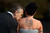 Peter Watkins kisses Nicola McCartney on their wedding day at the Gretna Green Famous Blacksmiths Shop on Valentine's day on February 14, 2013 in Gretna, Scotland.  (Photo by Jeff J Mitchell/Getty Images)