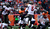 Denver Broncos defensive end Elvis Dumervil #92 hits Tampa Bay Buccaneers quarterback Josh Freeman #5 after the ball was thrown during the first half.  The Denver Broncos vs The Tampa Bay Buccaneers at Sports Authority Field Sunday December 2, 2012. AAron  Ontiveroz, The Denver Post