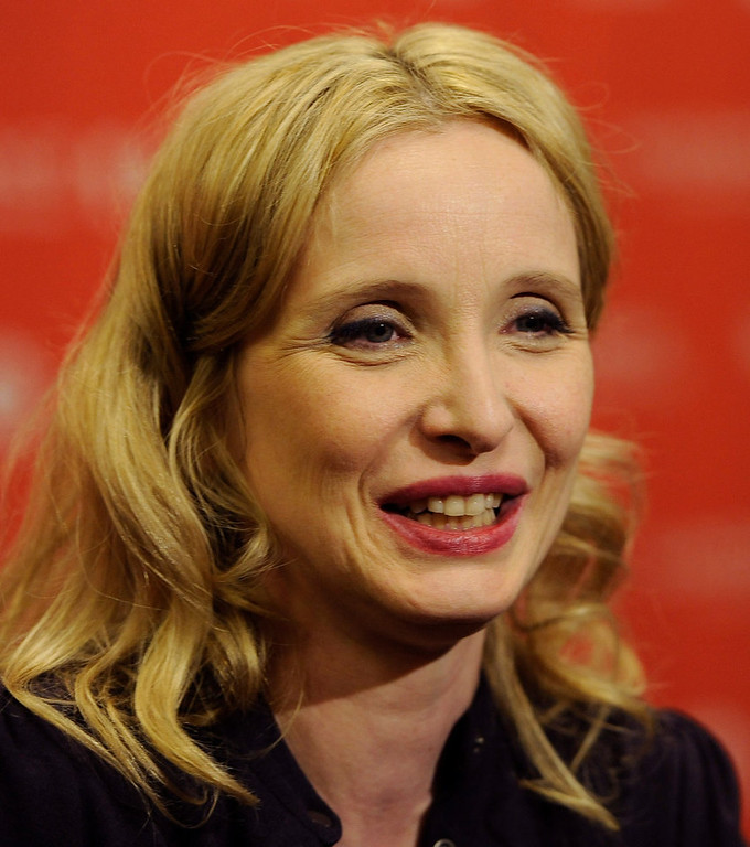 "Description of . Julie Delpy, a cast member, co-writer and director of ""2 Days in New York,\"" is interviewed at the premiere of the film at the 2012 Sundance Film Festival in Park City, Monday, Jan. 23, 2012. (AP Photo/Chris Pizzello)"