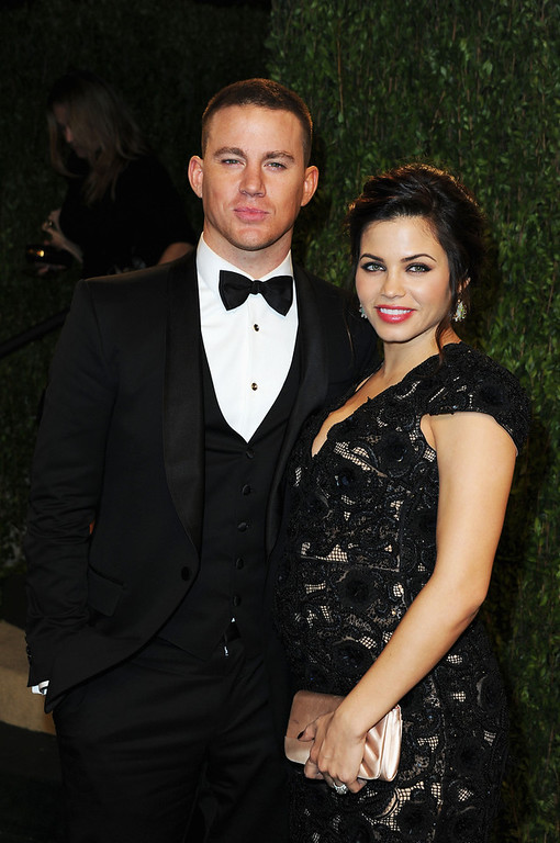 Description of . Actor Channing Tatum and Jenna Dewan arrive at the 2013 Vanity Fair Oscar Party hosted by Graydon Carter at Sunset Tower on February 24, 2013 in West Hollywood, California.  (Photo by Pascal Le Segretain/Getty Images)