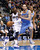 Dallas Mavericks guard O.J. Mayo drives on Denver Nuggets center Kosta Koufos during the first half of their NBA basketball game in Dallas, Texas, December 28, 2012.  REUTERS/Mike Stone