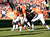 Quarterback Peyton Manning #18 tries to pick up the ball after it was centered past him making it 4th and 6 during the first half.  The Denver Broncos vs The Tampa Bay Buccaneers at Sports Authority Field Sunday December 2, 2012. Joe Amon, The Denver Post