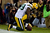 Wide receiver James Jones #89 of the Green Bay Packers celebrates after scoring a touchdown thrown by quarterback Aaron Rodgers #12 in the second quarter against the San Francisco 49ers during the NFC Divisional Playoff Game at Candlestick Park on January 12, 2013 in San Francisco, California.  (Photo by Thearon W. Henderson/Getty Images)