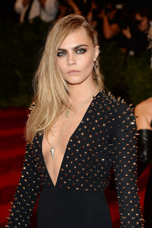 Description of . Cara Delevingne attends the Costume Institute Gala for the