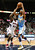 Atlanta Hawks forward Ivan Johnson (44) defends against Denver Nuggets forward Corey Brewer in the first half of their NBA basketball game in Atlanta, Georgia December 5, 2012.   REUTERS/Tami Chappell