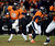 Denver Broncos quarterback Peyton Manning (18) hands off to Denver Broncos running back Ronnie Hillman (21) during the second half.  The Denver Broncos vs Baltimore Ravens AFC Divisional playoff game at Sports Authority Field Saturday January 12, 2013. (Photo by Tim Rasmussen,/The Denver Post)