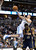 DENVER, CO. - JANUARY 28: Denver Nuggets small forward Danilo Gallinari (8) throws up an awkward shot over Indiana Pacers center Roy Hibbert (55)  during the fourth quarter January 28, 2013 at Pepsi Center. The Denver Nuggets defeated the Indiana Pacers 102-101 in NBA Action. (Photo By John Leyba / The Denver Post)