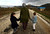 Sawssan  Abdelwahab, who fled Idlib in Syria, walks with her children outside the refugees camp near the Turkish-Syrian border in the southeastern city of Yayladagi February 16, 2012. REUTERS/Zohra Bensemra
