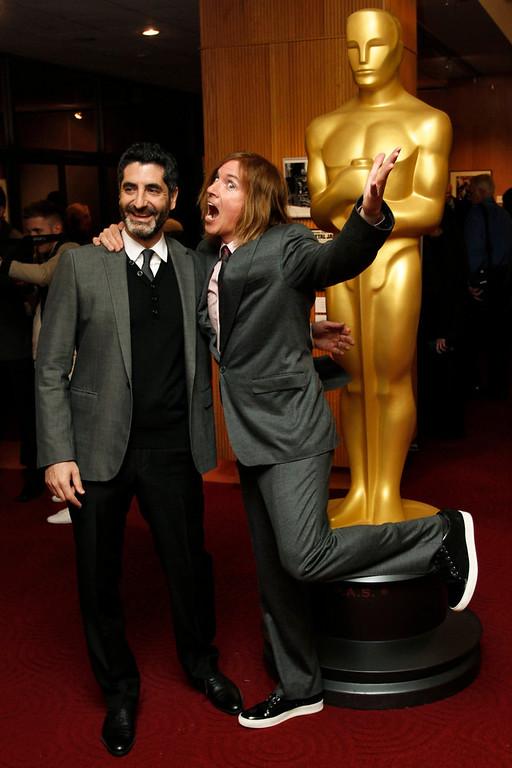 Description of . Mino Jarjoura (L) and Bryan Buckley, filmmakers of the Live-Action Short Film nominee