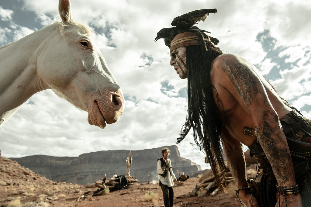 ". 2014 Academy Award Nominee for Best Makeup and Hairstyling: ""The Lone Ranger.\"" (AP Photo/Disney Enterprises, Inc. and Jerry Bruckheimer Inc., Peter Mountain)"