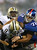 Drew Brees #9 of the New Orleans Saints is sacked by  Osi Umenyiora #72 of the New York Giants on December 9, 2012 at MetLife Stadium in East Rutherford, New Jersey.  (Photo by Elsa/Getty Images)