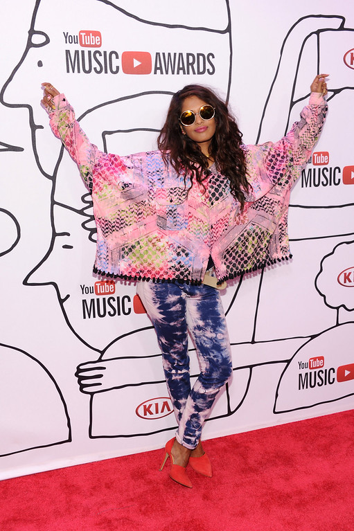 Description of . Musician M.I.A. attends the YouTube Music Awards 2013 on November 3, 2013 in New York City.  (Photo by Dimitrios Kambouris/Getty Images)