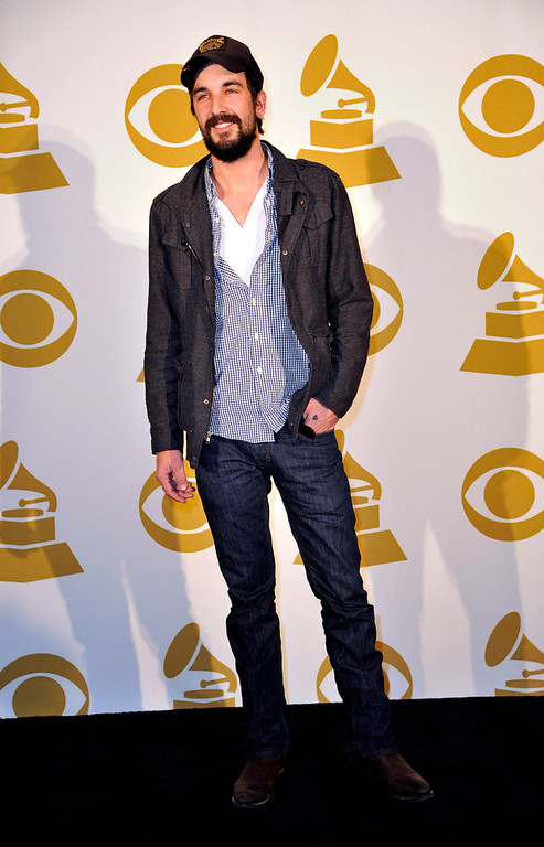 Description of . Country Artist Rhett Walker of the Rhett Walker Band poses for a photo backstage at the Grammy Nominations Concert Live! at Bridgestone Arena on Wednesday, Dec. 5, 2012, in Nashville, Tenn. (Photo by Donn Jones/Invision/AP)