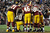 The Washington Redskins huddle around Robert Griffin III #10 during their NFC Wild Card Playoff Game against the Seattle Seahawks at FedExField on January 6, 2013 in Landover, Maryland.  (Photo by Patrick McDermott/Getty Images)