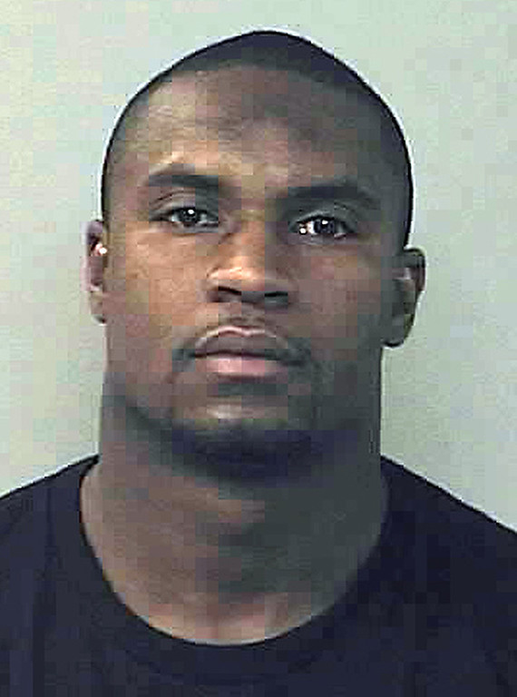 . This booking photo provided by the Denver Police Department shows Denver Broncos linebacker D. J. Williams after he was arrested in Denver early Friday, Nov. 12, 2010, and charged with driving under the influence. (AP Photo/Denver Police)