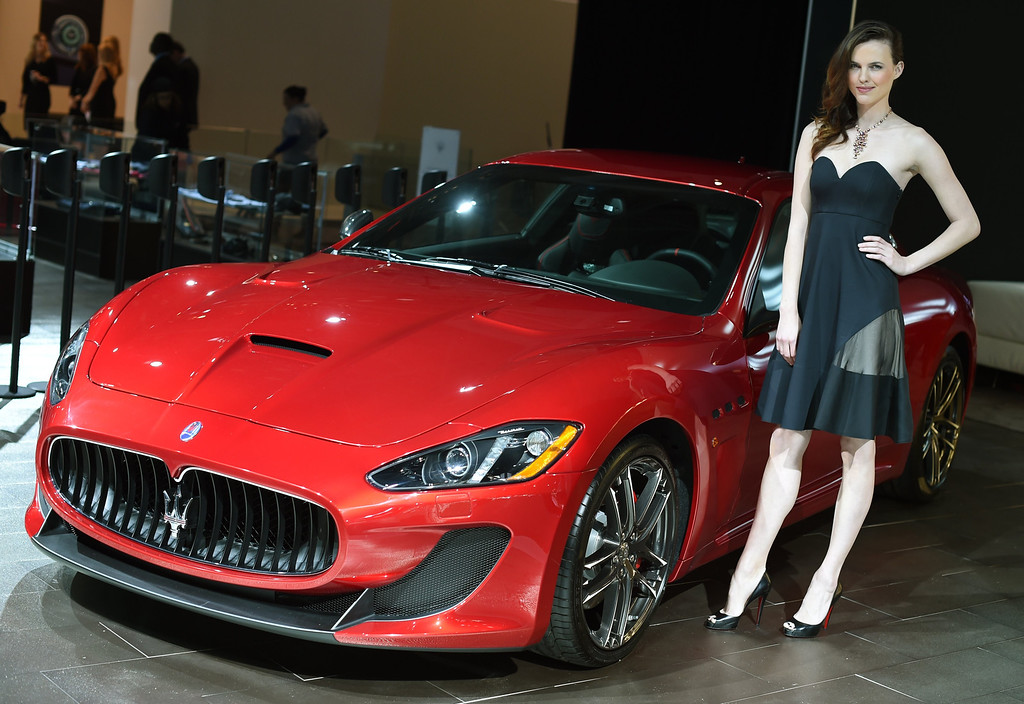 Description of . The Maserati GranTurismo on display during the first  press preview day at the 2014 New York International Auto Show April16, 2014 at the Jacob Javits Center in New York. The show opens to the public on April 18 and runs through the 27th.  AFP PHOTO / Timothy A. Clary/AFP/Getty Images