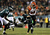 Dan Herron #34 of the Cincinnati Bengals blocks a punt by  Mat McBriar #1 of the Philadelphia Eagles in the first quarter on December 13, 2012 at Lincoln Financial Field in Philadelphia, Pennsylvania.  (Photo by Elsa/Getty Images)