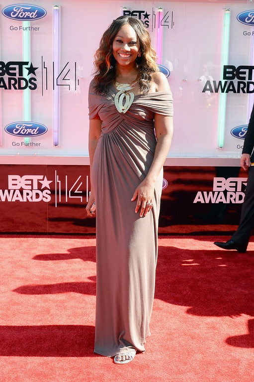 Description of . Singer Yolanda Adams attends the BET AWARDS '14 at Nokia Theatre L.A. LIVE on June 29, 2014 in Los Angeles, California.  (Photo by Earl Gibson III/Getty Images for BET)