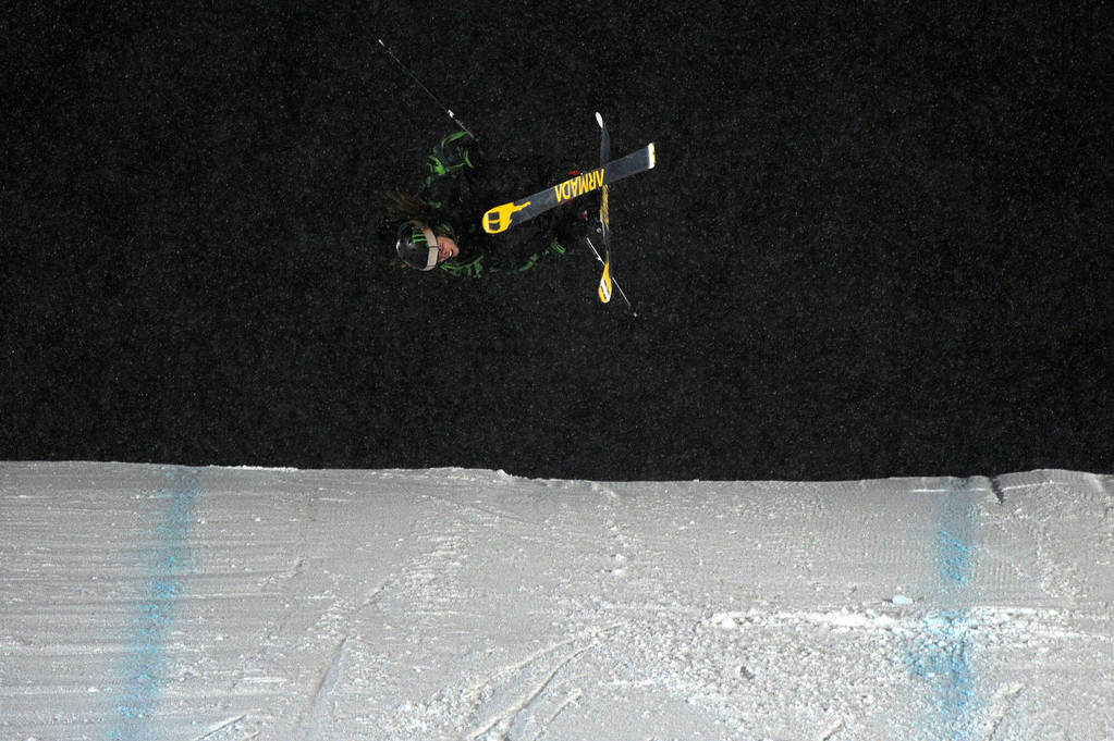 Description of . ASPEN, CO - January 26: Henrik Harlaut, of Sweden, prepares to land a nose butter triple cork 1620 during the men's Ski Big Air Finals at Winter X Games Aspen 2013 at Buttermilk Mountain on Jan. 26, 2013, in Aspen, Colorado. Harlaut scored a perfect 50 on the jump and won the event overall. (Photo by Daniel Petty/The Denver Post)