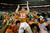Clemson kicker Chandler Catanzaro (39) is hoisted into the air after he kicked the winning 37-yard field goal after the second half of the Chick-fil-A Bowl NCAA college football game against LSU, Monday, Dec. 31, 2012, in Atlanta. Clemson won 25-24.  (AP Photo/David Goldman)