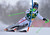 Kathrin Zettel of Austria clears a gate during the first run of the Alpine Skiing World Cup women's slalom ski race in Maribor January 27, 2013. REUTERS/Srdjan Zivulovic