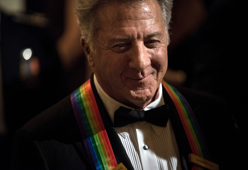. Actor Dustin Hoffman leaves after an event in the East Room of the White House on December 2, 2012 in Washington. Obama and US first lady Michelle Obama attended the event at the White House with the 2012 Kennedy Center Honorees to celebrate their contribution to the arts before heading to the Kennedy Center for the honors program.    BRENDAN SMIALOWSKI/AFP/Getty Images