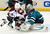 SAN JOSE, CA - JANUARY 26:  Thomas Greiss #1 of the San Jose Sharks defends his goal against Mark Olver #40 of the Colorado Avalanche in the third period of their game at HP Pavilion on January 26, 2013 in San Jose, California. The Sharks won the game 4-0. (Photo by Thearon W. Henderson/Getty Images)