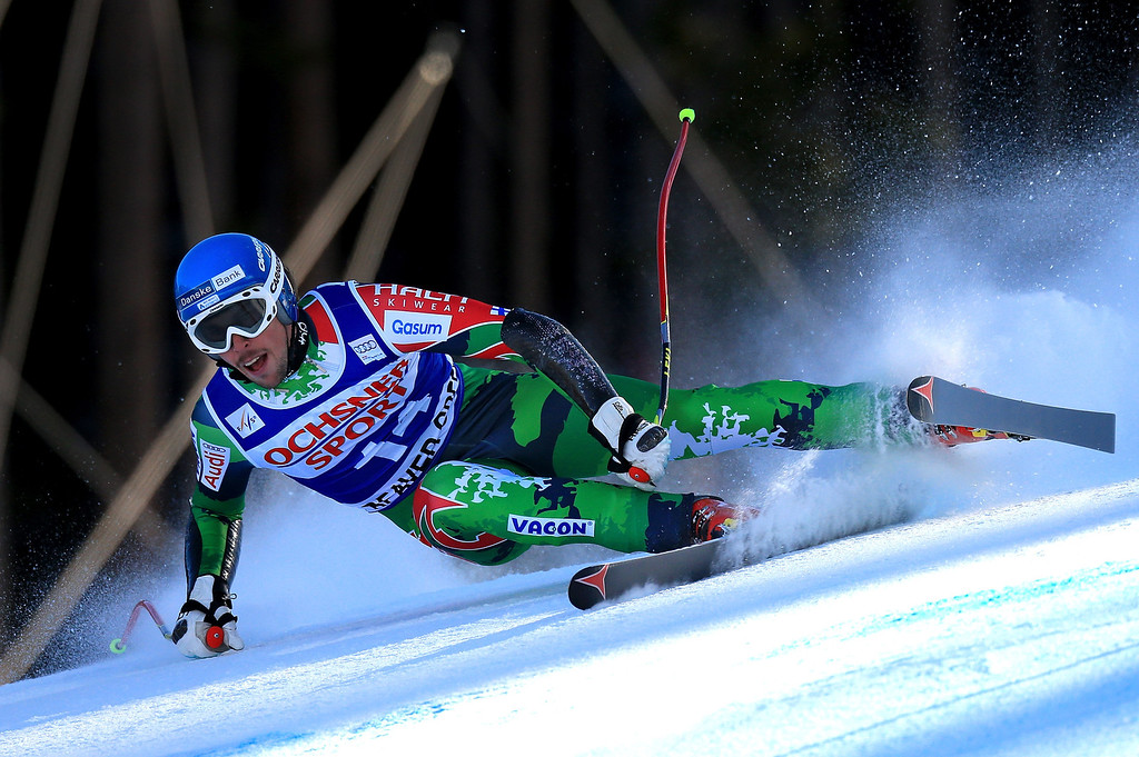 Description of . Andreas Romar of Finland skis to 40th place in the men's Super G on the Birds of Prey at the Audi FIS World Cup on December 1, 2012 in Beaver Creek, Colorado.  (Photo by Doug Pensinger/Getty Images)