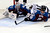 DENVER, CO. - JANUARY 22: Colorado Avalanche goalie Semyon Varlamov (1) and defenseman Jan Hejda (8) defend the net against Los Angeles Kings center Mike Richards (10) during the second period. The Colorado Avalanche hosted the Los Angeles Kings at the Pepsi Center on January, 22, 2013.   (Photo By John Leyba / The Denver Post)