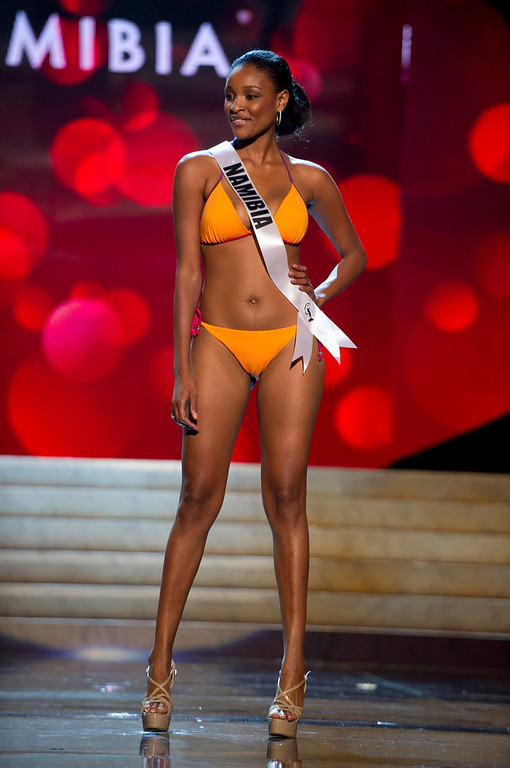 Description of . Miss Namibia 2012 Tsakana Nkandih competes during the Swimsuit Competition of the 2012 Miss Universe Presentation Show at PH Live in Las Vegas, Nevada December 13, 2012. The Miss Universe 2012 pageant will be held on December 19 at the Planet Hollywood Resort and Casino in Las Vegas. REUTERS/Darren Decker/Miss Universe Organization L.P/Handout