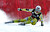 Kjetil Jansrud of Norway skis past a gate in the men's World Cup downhill ski race in Beaver Creek, Colorado, November 30, 2012. Jansrud finished third in the race.   REUTERS/Mike Segar