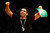 HOUSTON, TX - FEBRUARY 16:  Rapper Drake reacts during the Sprite Slam Dunk Contest part of 2013 NBA All-Star Weekend at the Toyota Center on February 16, 2013 in Houston, Texas.   (Photo by Scott Halleran/Getty Images)