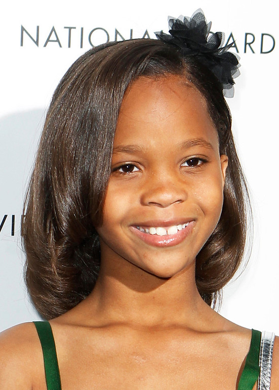 Description of . Actress Quvenzhane Wallis arrives to receive the Breakthrough Performance Actress Award at the National Board of Review Awards in New York in this January 8, 2013 file photo. Wallis has been nominated for best actress for her role in