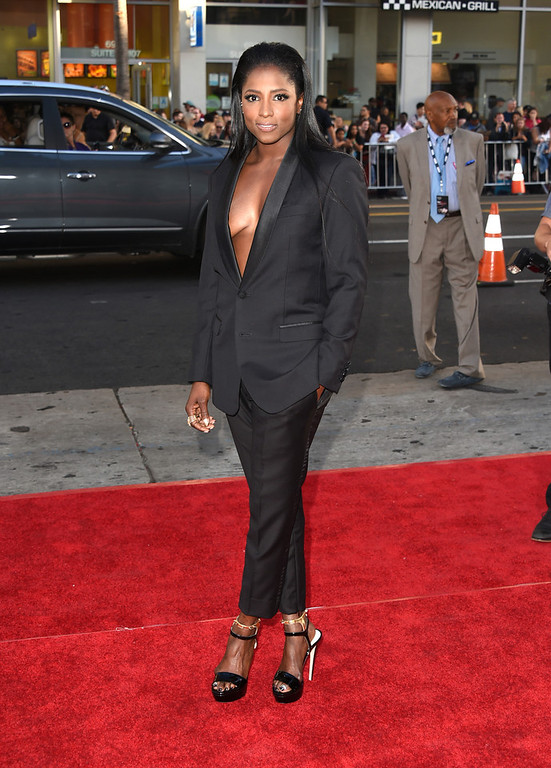 Description of . Actress Rutina Wesley attends the premiere of HBO's