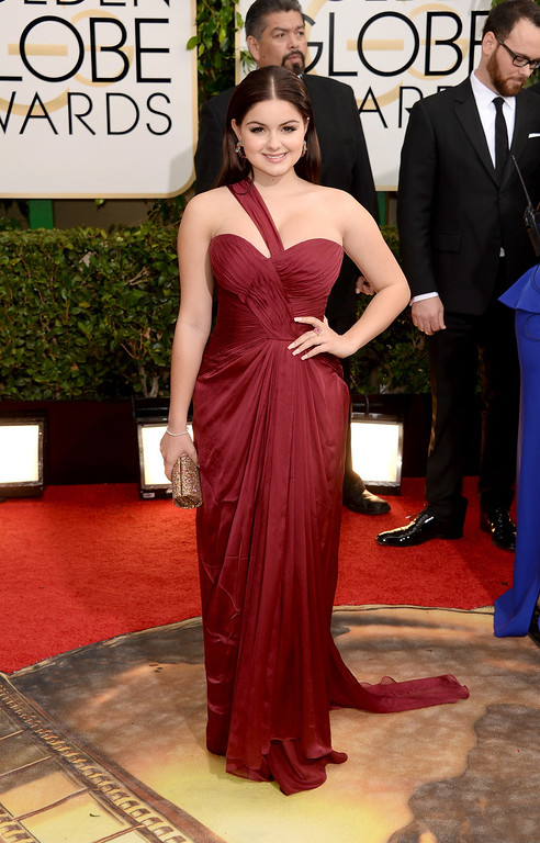Description of . Actress Ariel Winter attends the 71st Annual Golden Globe Awards held at The Beverly Hilton Hotel on January 12, 2014 in Beverly Hills, California.  (Photo by Jason Merritt/Getty Images)