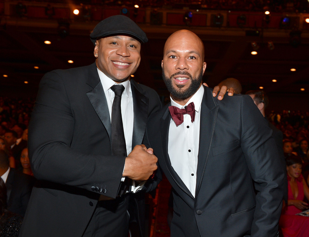 Description of . LOS ANGELES, CA - FEBRUARY 01:  LL Cool J (L) and Common attend the 44th NAACP Image Awards at The Shrine Auditorium on February 1, 2013 in Los Angeles, California.  (Photo by Alberto E. Rodriguez/Getty Images for NAACP Image Awards)