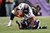 Denver Broncos running back Knowshon Moreno #27 runs over Baltimore Ravens inside linebacker Brendon Ayanbadejo #51 at the M&T Bank Stadium, in Baltimore , MD Sunday December 16, 2012.      Joe Amon, The Denver Post