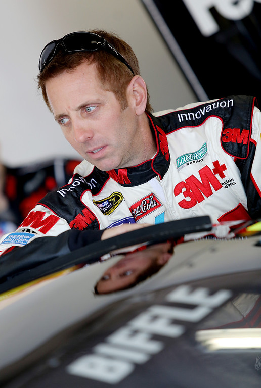 . DAYTONA BEACH, FL - FEBRUARY 20:  Greg Biffle, driver of the #16 3M Ford, stands in the garage during practice for the NASCAR Sprint Cup Series Daytona 500 at Daytona International Speedway on February 20, 2013 in Daytona Beach, Florida.  (Photo by Jerry Markland/Getty Images)