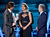 (L-R) Actors Bradley Cooper, Jennifer Lawrence and Robert De Niro accept the Best Acting Ensemble Award for 