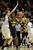 Colorado Buffaloes center Rachel Hargis (40) plays tough defense on California Golden Bears center Talia Caldwell (33) during the first half Sunday, January 6, 2013 at Coors Events Center. John Leyba, The Denver Post