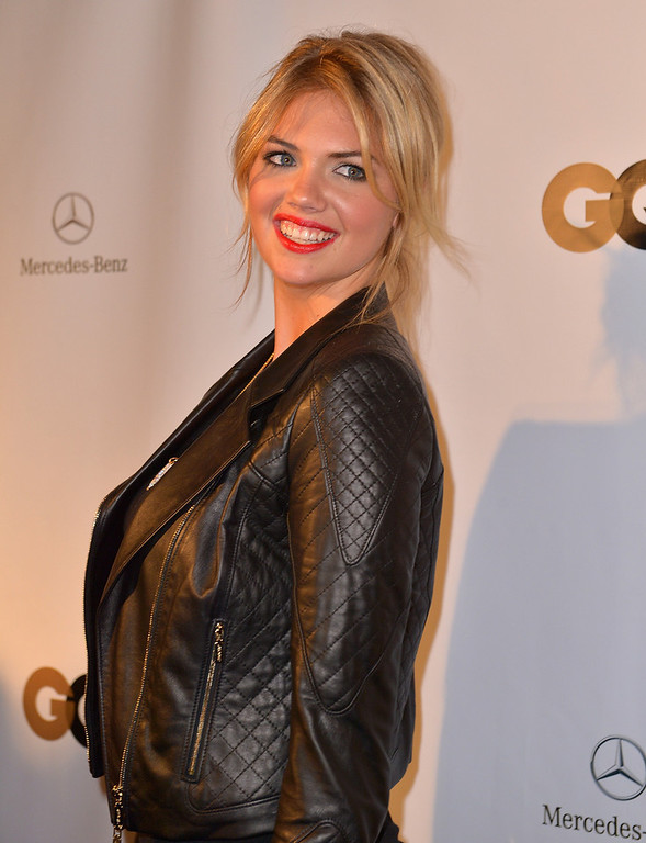Description of . Kate Upton attends the Lacoste/GQ Super Bowl Party at The Elms Mansion on February 2, 2013 in New Orleans, Louisiana.  (Photo by Gustavo Caballero/Getty Images for GQ)