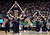 SALT LAKE CITY, UT - MARCH 21:  The Gonzaga Bulldogs cheerleaders perform in the first half during a break in the game against the Southern University Jaguars during the second round of the 2013 NCAA Men's Basketball Tournament at EnergySolutions Arena on March 21, 2013 in Salt Lake City, Utah.  (Photo by Harry How/Getty Images)