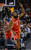 DENVER, CO. - JANUARY 30: Houston Rockets shooting guard James Harden (13) points to up after hitting a three pointer against the Denver Nuggets  during the first quarter January 30, 2013 at Pepsi Center. The Denver Nuggets take on the Houston Rockets in NBA action. (Photo By John Leyba/The Denver Post)