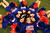 Florida Gators cheerleaders pose before their team play the Louisville Cardinals in their 2013 Allstate Sugar Bowl NCAA football game in New Orleans, Louisiana January 2, 2013.  REUTERS/Sean Gardner