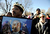 The Martin Luther King Jr. Marade (march/parade) started at City Park and finished downtown. Joseph Wiggins  of Denver holds a portrait of King as he listens to speakers at the MLK statue in City Park  before the start of the march/parade on Monday, January 21, 2013.  (Photo By Cyrus McCrimmon / The Denver Post)
