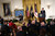 U.S. President Barack Obama (R) speaks prior to presenting the Medal of Honor for conspicuous gallantry to Clinton Romesha (L), a former active duty Army Staff Sergeant, at the White House February 11, 2013 in Washington, DC. (Photo by Alex Wong/Getty Images)