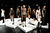 Models pose at the Hernan Lander Fall 2013 fashion presentation during Mercedes-Benz Fashion Week at The Box at Lincoln Center on February 11, 2013 in New York City.  (Photo by Fernanda Calfat/Getty Images for Mercedes-Benz Fashion Week)