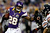 Adrian Peterson #28 of the Minnesota Vikings carries the ball against the Chicago Bears at Mall of America Field on December 9, 2012 in Minneapolis, Minnesota.  (Photo by Matthew Stockman/Getty Images)